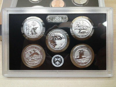2018-S National Park Quarter Silver REVERSE Proof Set - Same Day Shipping