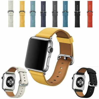Genuine Leather Band Strap 42mm 38mm For Apple Watch iWatch Straps series 1 2 3