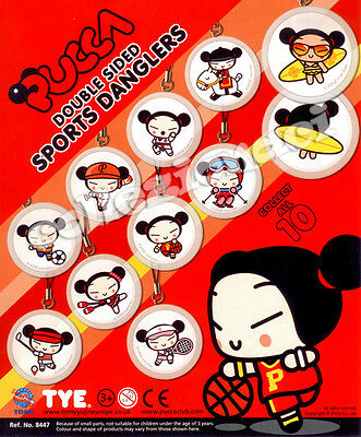 Pucca Double Sided Sports DanglersTomy 10 Pezzi