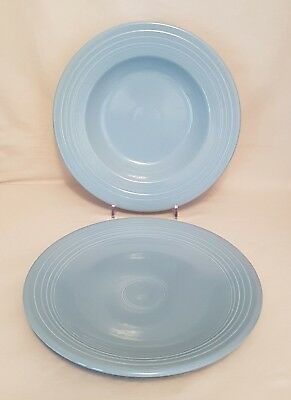 Homer Laughlin Fiesta Dinner Ware - Periwinkle Pasta Bowl & Chop Plate (2 Pcs)