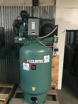 FS-Curtis CA10 10-HP 120Gallon 2-Stage Air Compressor 230VOLT SINGLE PHASE 32CFM