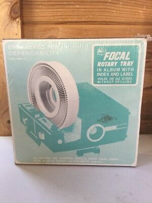 Vintage Projector Focal 100 Rotary Slide Tray 100 2x2 Slides (D5)