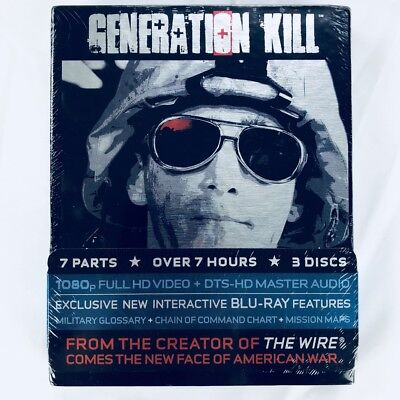 Generation Kill - Complete HBO TV Mini Series (Blu-ray, 3-Disc Box Set)