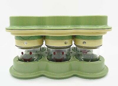 Magic Baby Bullet Food Processor 6 Date Dial Storage Cups Tray