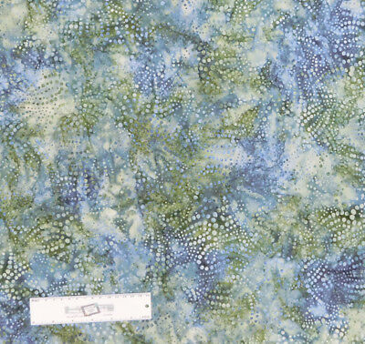 Quilting Patchwork Sewing Fabric BLUE GREY SWIRLS Batik Cotton Material 50x55...