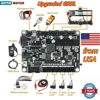 【USA】3 Axis USB 1.1 GRBL Control Board For CNC Router Milling Mini Laser Machine