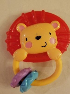 Fisher Price Mattel 2010 Lion Childs Rattle Free Shipping