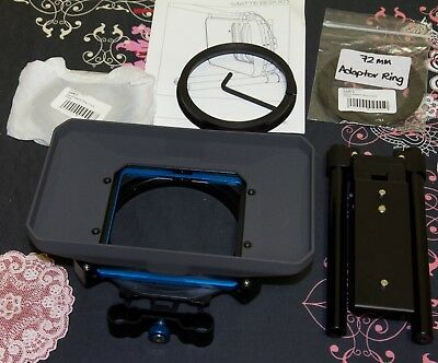 Genus GMCB Matte Box Kit in Box w/ 72mm + 77mm rings - used once only