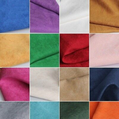 Faux Suede Fabric DIY Suedette Material Upholstery Cushion Chair Plain Dressmake