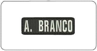 A Branco embroidery patches 1x3 hook on white