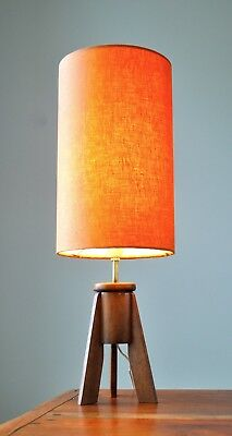 Vintage Retro Mid Century Danish Eames 'MODHAGE' Table Lamp Teak with new shade