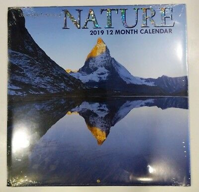 "2019 Beautiful Visions of Nature 12 Month Wall Calendar 12"" X 24"" New Sealed"