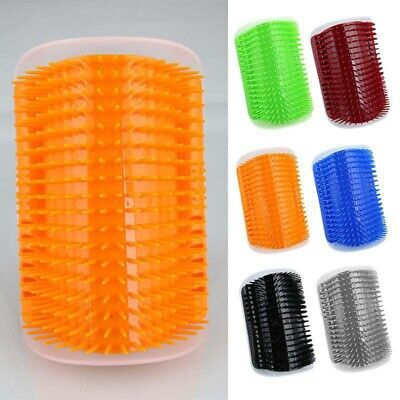 US Pet Dog self Groomer Cat Wall Corner Massage Comb Grooming Cleaning Brush