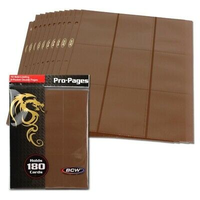 Side Loading 18 Pocket Pro 10 Album Binder Brown Pages MTG Trading Cards By BCW