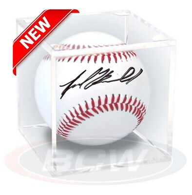 Clear Plastic Baseball Ball Holder Display Cube Box Case Crystal Clear New Gift
