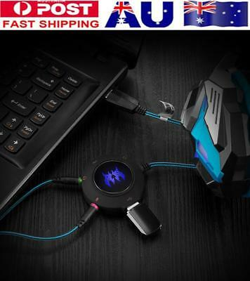 KOTION Each 2.0 Usb External Sound Card Stereo Audio Adapter Cable Pc Laptop AU
