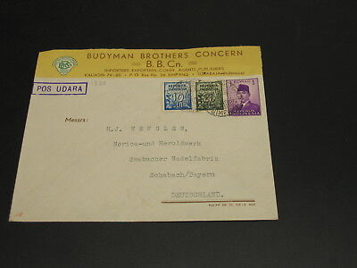 Indonesia 1952 advertising cover to Germany *1338