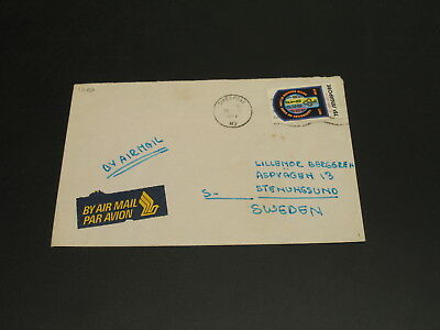 Singapore 1977 airmail cover to sweden *1292
