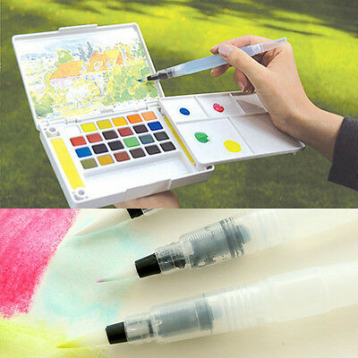 3 Size New Water Soft Brush Pen Paint Watercolor Reusable Beginners Callig-,