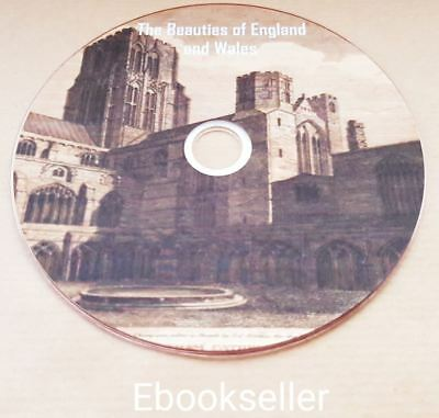 The Beauties of England & Wales Topographical vintage books in pdf files on disc