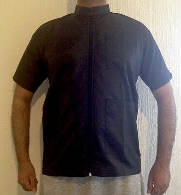 Barber Black Hairdressing / Haircutting Jacket/ Medium/ Large / XL For £9.99