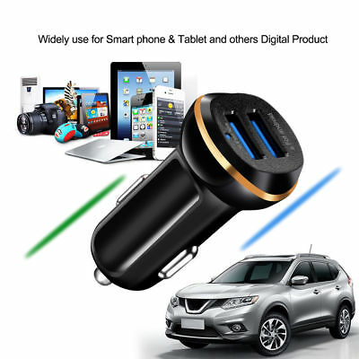 Dual USB Car Charger 3.1A Adapter Fast Charging For iPhone Samsung Smart Phone