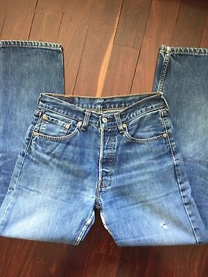 Women's Vintage  Blue Classic Washed 501s Mom Jean S/M 31/32