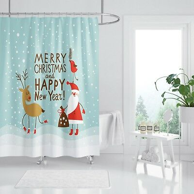 Window Treatments & Hardware 3d Weihnachtsmann 90 Duschvorhang Wasserdicht Faser Bad Daheim Windows Toilette
