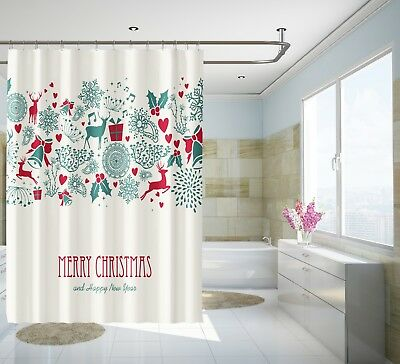 3d Weihnachtsmann 90 Duschvorhang Wasserdicht Faser Bad Daheim Windows Toilette Shower Curtains