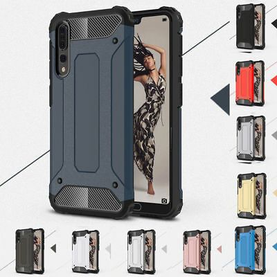 For Huawei P20 Pro Rugged Heavy Duty Dual Layer Armor Shockproof Case Cover