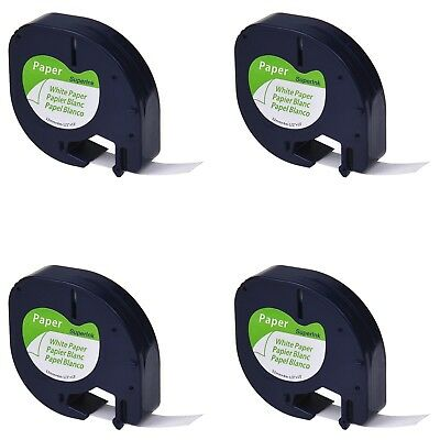 SuperInk 4 Pack Compatible with Dymo LetraTag LT 91200 91330 10697 91220 59421