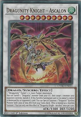 Yu-Gi-Oh: DRAGUNITY KNIGHT - ASCALON - CYHO-EN033 - Ultra Rare Card 1st Edition