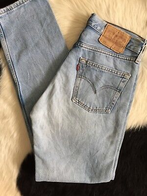 Women's Vintage Perfect Wash Denim Mom High Waisted Jeans 27