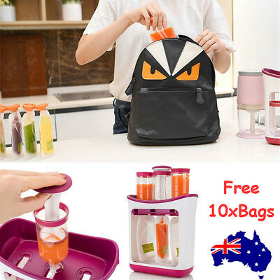 Infant Feeding Station Baby Food Maker Pouches Homemade Fresh Squeeze Storage AU
