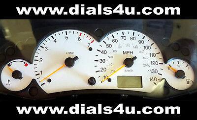 FORD FOCUS Mk1 (1998-2004) - 140mph (Petrol or Diesel) - WHITE DIAL KIT