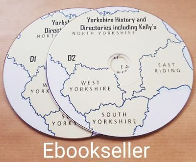 Yorkshire county history & directories & kellys directories 130 ebooks on 2 disc
