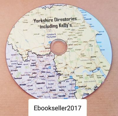 Yorkshire historical directories, & kellys local directories pdf ebooks, on disc