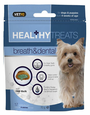 VetIQ Healthy Treats Breath & Dental 70g - Mark & Chappell Dog & Puppy Snack