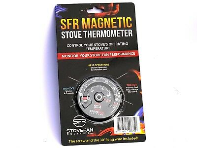 SFR Stove Thermometer -  Magnetic Gauge for Wood Burner Stove