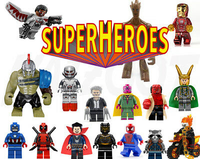 Marvel Super Heroes Mini Figures - Sets or Individual Lego & Custom