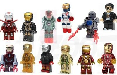 Iron Man Super Hero Custom Mini Figures fits Lego 50+ Designs Minifigure