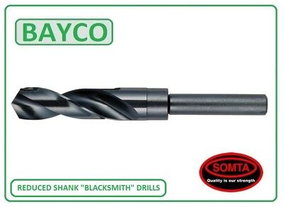 Blacksmith Drill / Reduced Shank Drills Hss Drill Bits, All Sizes 13Mm To 30Mm.