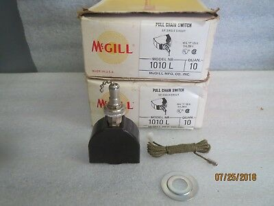 Mcgill-Levolier-Single-Circuit-Pull-Chain-Switch-1010L-NEW LOT OF 5 (10A T 125V)