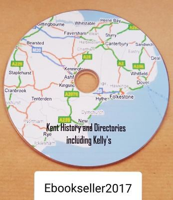 Kent county local history & directories & kelly's directories 98 ebooks, on disc