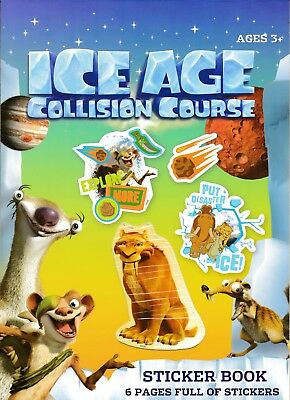 Ice Age Collision Course Sticker Book. Official Sticker Pad Childrens Kids Gift