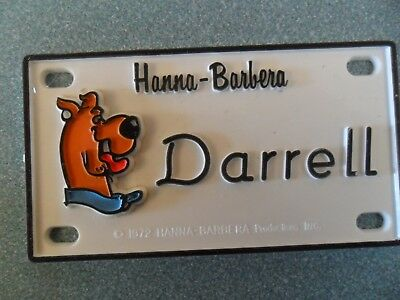 """Scooby-Doo Name Plates or Door Signs circa 1972 About 4"""" x 2"""""""
