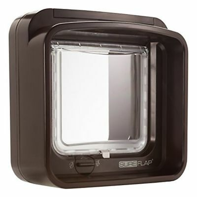 SureFlap Dual Scan Microchip Cat Flap BROWN - Selective Entry & Exit, Genuine