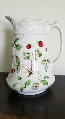 James Kent, Old Foley, Strawberry,  1 Quart Pitcher, Made In England