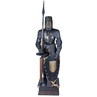 BLACK KNIGHT ARMOR -REAL SIZE 200 cm CERTIFIED- Marto, Made in Toledo