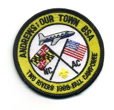 Two Rivers Fall Camporee NCAC 1988 Boy Scout Patch Andrews: Our Town BSA